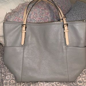 Michael Kors Gray leather tote